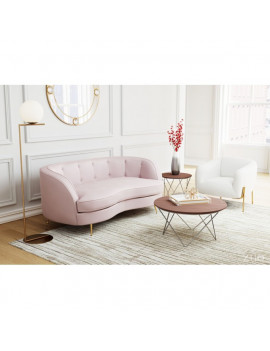 Ada - Sofa in Pink / Ivory...