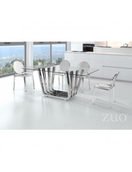 Fan - Dining Table in Chrome