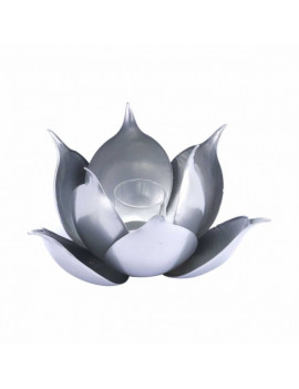Lotus Candle Holder in Silver