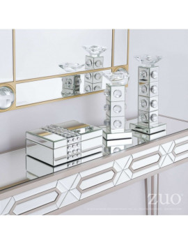 Mirrored Candle Holder -...