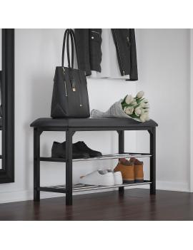 Foster 2-Tier Bench in Black